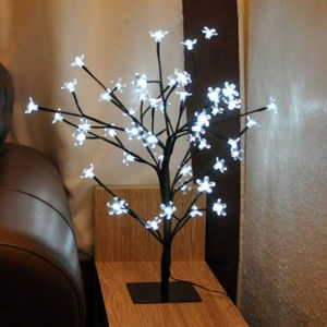 White 80cm Blossom Bonsai Tree With LED Lights - lights & lanterns