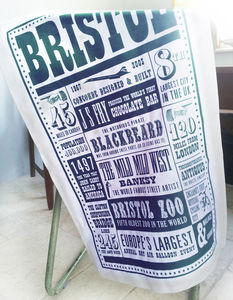 Bristol Facts Tea Towel - tea towels