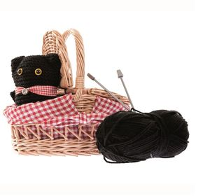 Knit Your Own Kitten In A Basket Set - traditional toys & games