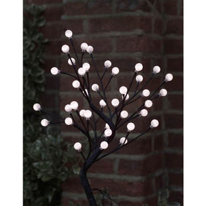 45cm White Cotton Ball Tree With 40 LED Lights - lights & lanterns