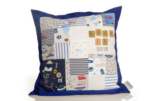 Personalised Baby Clothes Keepsake Cushion - children's cushions