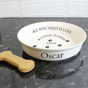 Personalised Dog Bowl - food, feeding & treats