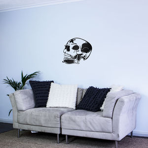 Skull Marked Wall Art Decal - wall stickers