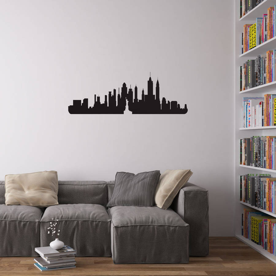 Exceptional New York City Skyline Wall Art Decal Part 21
