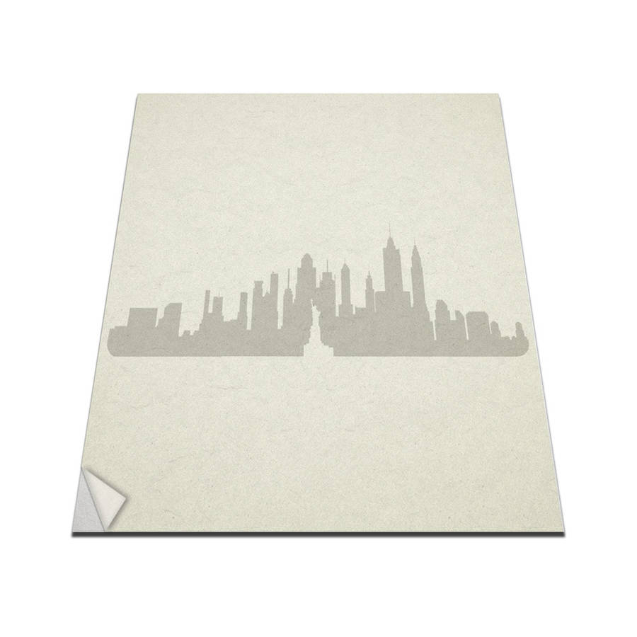 New york city skyline wall art decal