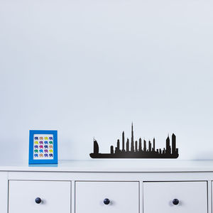 Dubai City Skyline Wall Art Decal - wall stickers