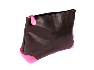 Leather Wash Bag Neon