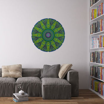 Geometric Sunshine Mandala Wall Art Sticker