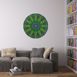 Geometric Sunshine Mandala Wall Art Sticker - home decorating