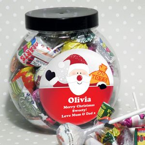 Santa Personalised Sweet Jar