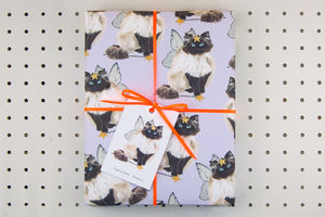 Furry Cat Eco Wrapping Paper - wrapping paper