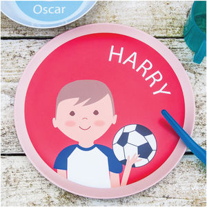 Personalised Footballer Plate - baby care