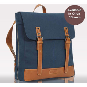 Joel Unisex Canvas /Leather Changing Bag - gifts for new parents