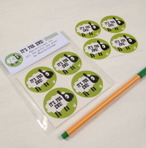 'It's For Ewe' Sheep Gift Wrapping Stickers