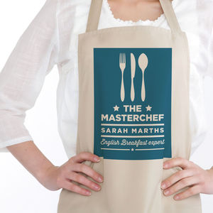 Masterchef Personalised Apron - kitchen linen
