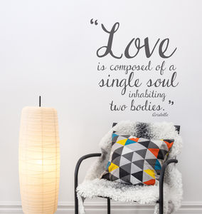 Aristotle Greek Love Quote Wall Sticker