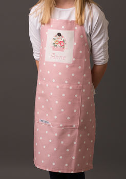 Personalised Girls Spotty Apron