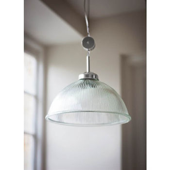 Rise And Fall Paris Glass And Nickel Pendant Light By