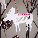 Personalised Laser Cut Moose Decoration