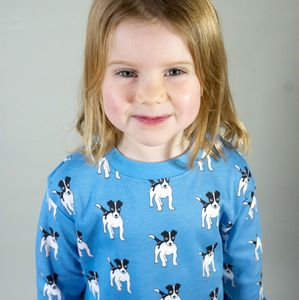 Organic Jack The Dog Print Pyjamas - clothing