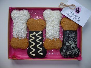 Four Bone Shaped Cookies