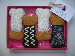 Four Bone Shaped Cookies - dogs