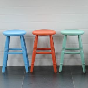 Low Stool Hand Painted In Any Colour - furniture