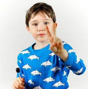 Organic Shark Print Pyjamas