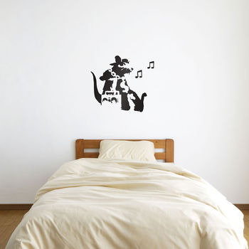 Banksy Rat Hip Hop Head Wall Art Decal