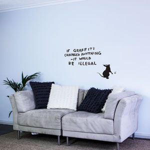 Banksy Rat Graffiti Writer Wall Art Decal - wall stickers