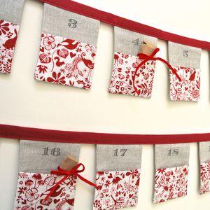 Handmade Bunting Advent Calendar ~ Woodland Friends - garlands & bunting