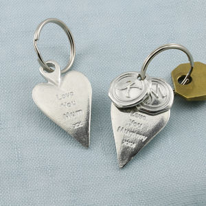 'Love You Mummy' Long Heart Keyring Gift