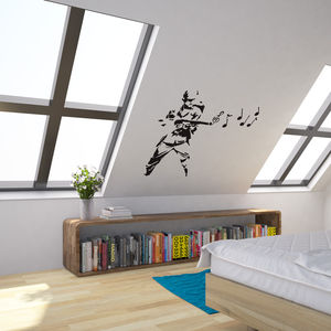 Banksy Musical Soldier Vinyl Wall Art Decal - wall stickers
