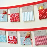 Handmade Bunting Advent Calendar ~ Red And Blue - christmas decorations
