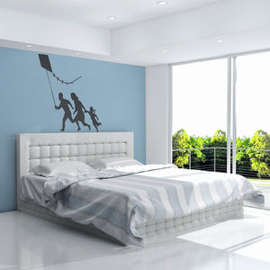 Banksy Family With Kite Vinyl Wall Art Decal - wall stickers