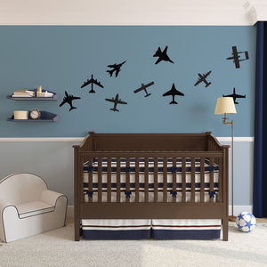 Airplanes Wall Art Decal Pack For Kids - decorative accessories