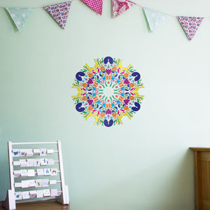 Animal Kingdom Mandala Wall Art Sticker - office & study