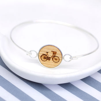 Wooden Bicycle Bangle