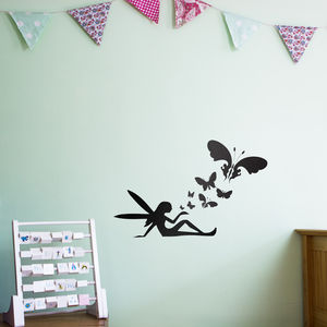 Fairy Butterflies Wall Art Decal For Kids