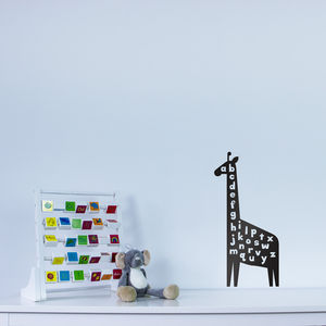 Giraffe Alphabet Wall Art Decal For Kids