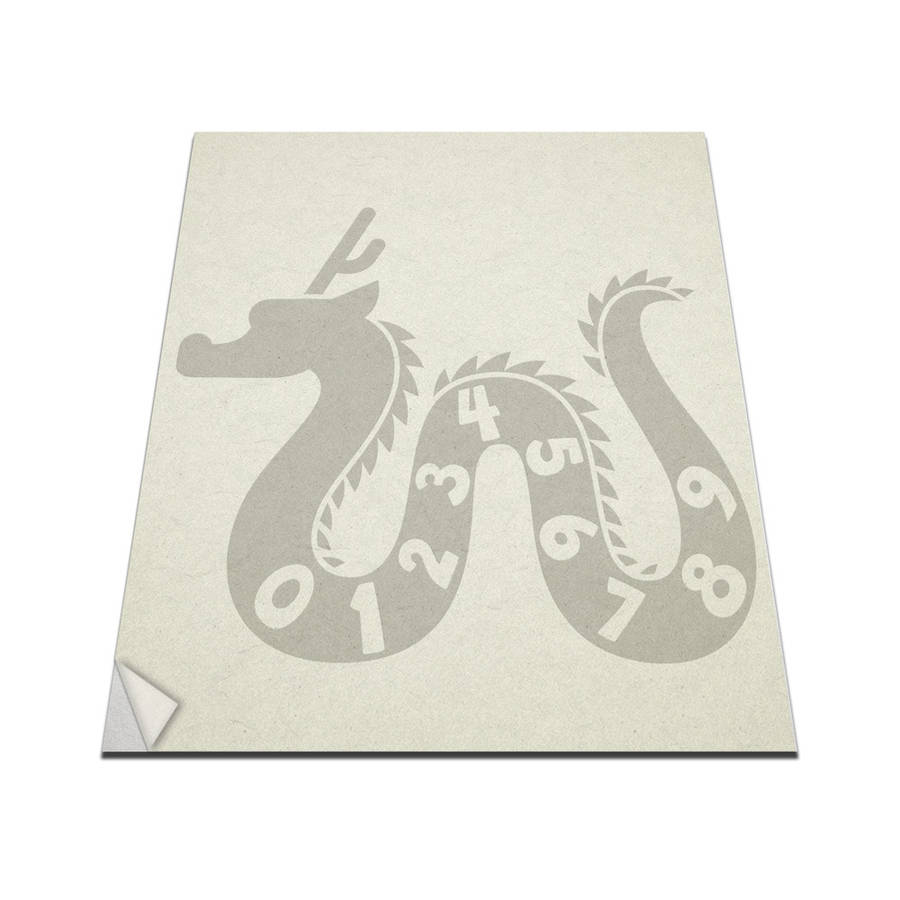 VINYL REVOLUTION DRAGON NUMBERS VINYL WALL ART DECAL FOR KIDS