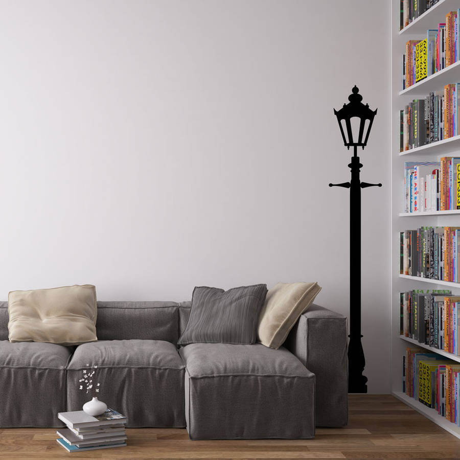Victorian Single Lamp Post Vinyl Wall Decal By Vinyl