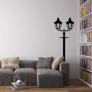 Victorian Double Lamp Post Vinyl Wall Decal - wall stickers