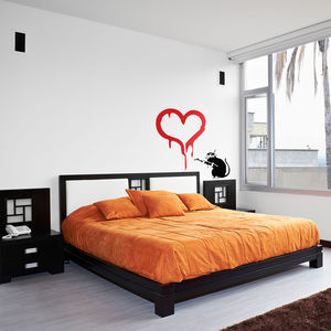 Banksy Rat In Love Vinyl Wall Decal - home accessories