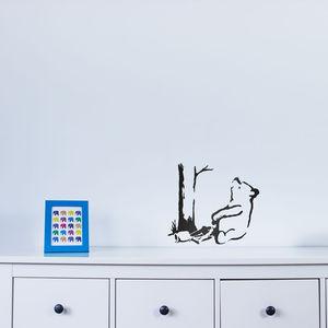 Banksy Trapped Pooh Bear Vinyl Wall Decal