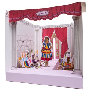 Girls 3D Pop Up Colouring Scenes