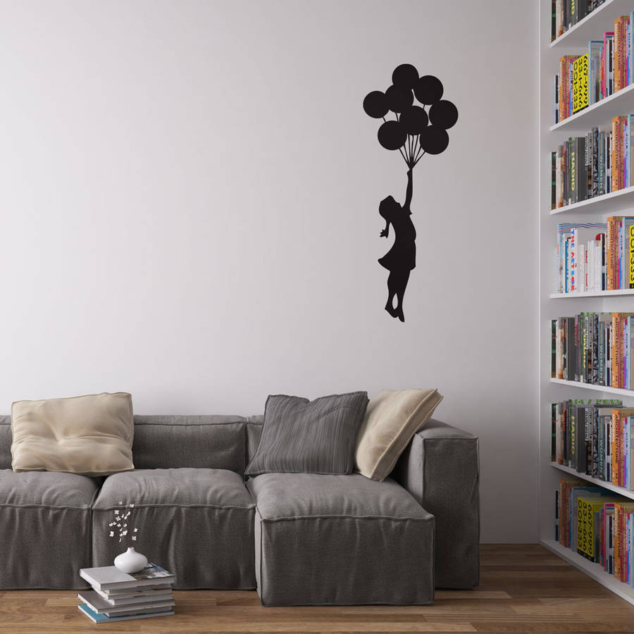 banksy balloon girl vinyl wall decal by vinyl revolution ...