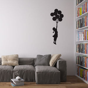 Banksy Balloon Girl Vinyl Wall Decal - home accessories