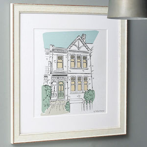 Personalised House Portrait - 1st anniversary: paper