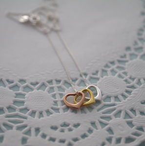 Trio Of Hearts Necklace